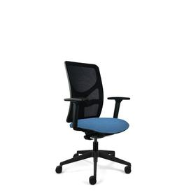 image-Bette Ergonomic Mesh Desk Chair Symple Stuff Frame Colour: Black, Upholstery Colour: Blue