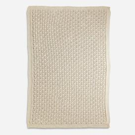 image-Matos Knot Plaid Baby Blanket Isabelle & Max Colour: White