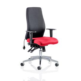 image-High-Back Desk Chair Symple Stuff Colour: Black / Cherry