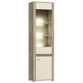 image-Campari Tall Display Cabinet - Oak Country 60cm