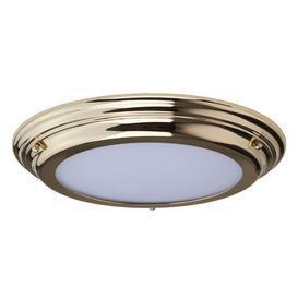 image-Elstead WELLAND/F PB Welland Medium Bathroom Flush Ceiling Light In Polished Brass
