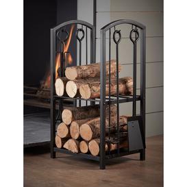 image-NEW Log Holder & Fire Side Set