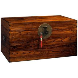 image-Large Wooden Blanket Box Bloomsbury Market Colour: Warm Elm