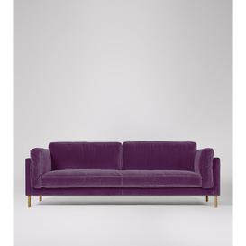 image-Swoon Munich Three-Seater Sofa in Aubergine Easy Velvet