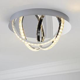 image-Serena 3 Light Integrated LED Hoops Flush Ceiling Fitting Silver