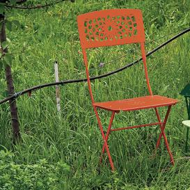 image-Newt Folding Dining Chair Sol 72 Outdoor Seat Colour: Orange