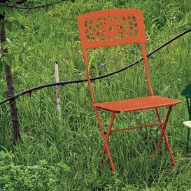 image-Newt Folding Dining Chair Dakota Fields Seat Colour: Orange