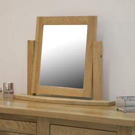 image-Opus Solid Oak Furniture Dressing Table Mirror