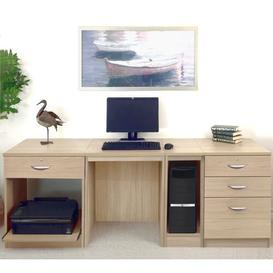image-Walshaw Computer Desk Ebern Designs Finish: Sandstone