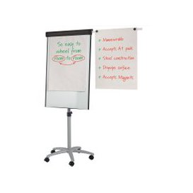 image-Buzzard Mobile Flipchart Easel, White, Free Next Day Delivery