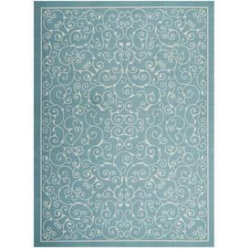 image-Wright Power Loom Light Blue Indoor/Outdoor Rug Marlow Home Co. Rug Size: Rectangle 305 x 396cm