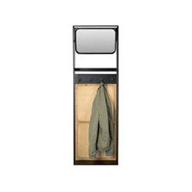 image-Dutchbone Langres Medium Mirror with Coat Hooks