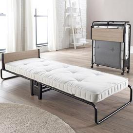 image-Revolution Folding Bed Frame with Memory Foam Mattress Black