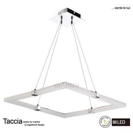 image-M8168 Taccia LED 1 Light Square Ceiling Pendant in Chrome