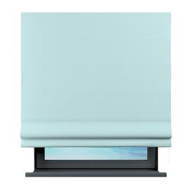 image-Sama Semi-Sheer Roman Blind Brayden Studio Size: 125 cm L x 140 cm W, Finish: Light Blue
