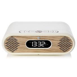 image-Rosie Lee Digital Alarm Tabletop Clock VQ Finish: Cream/Oak