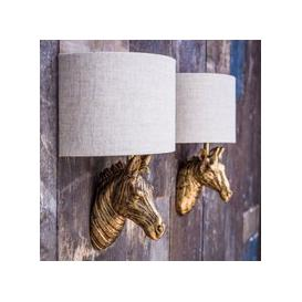 image-Gold Zebra Wall Light With Shade