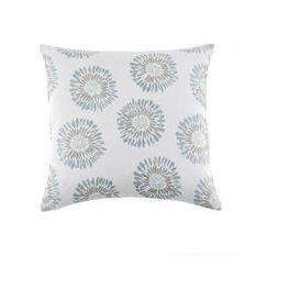 image-Audrey Duck Egg Floral Cushion White, Grey and Blue