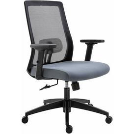image-Kiska Ergonomic Mesh Desk Chair Symple Stuff Colour (Upholstery): Grey, Customization: Low Back