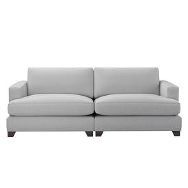 image-The Lounge Co. - Lorrie 4 Seater Fabric Sofa - Grey