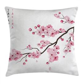 image-Kyal Asian Japanese Cherry Branch Outdoor Cushion Cover Ebern Designs Size: 40cm H x 40cm W