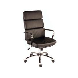 image-Crowne Leather Faced Executive Chair, Black