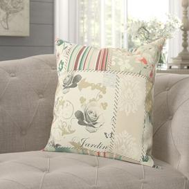 image-Chateau Scatter Cushion with Filling Fleur De Lis Living Size: 55 x 55cm, Colour: Beige