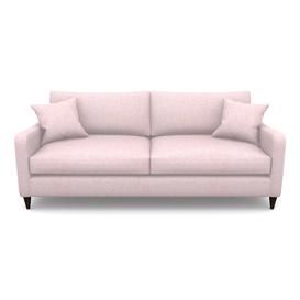 image-Rye 4 Seater Sofa in Textured Plain- Rose