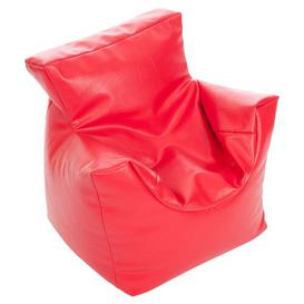 image-Kids Funzee Bean Bag Chair Mercury Row Upholstery: Faux Leather Red