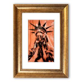 image-'Statue of Liberty Cry' Framed Graphic Art East Urban Home Size: 50 cm H x 40 cm W, Frame Options: Gold
