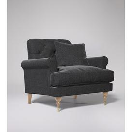 image-Swoon Sidbury Armchair in Anthracite Smart Wool With Light Feet