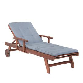 image-Kerish Reclining Sun Lounger with Cushion Sol 72 Outdoor
