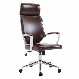 image-Iconic Swivel Office Chair Symple Stuff Colour (Upholstery): Brown