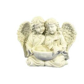 image-Pair of Angels with Bird Bath Frison Figurine Astoria Grand
