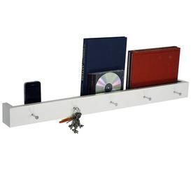 image-Wall Mounted 5 Key Holder / Picture Shelf Symple Stuff Finish: White
