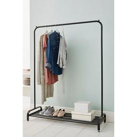 image-Clothes Rail with Shoe Rack