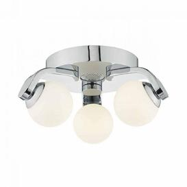 image-Dar IKE5350 Iker 3 Light LED Flush Ceiling Spotlight In Polished Chrome