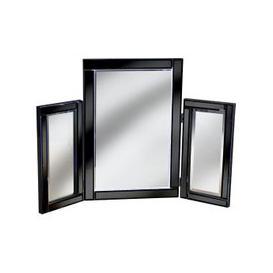 image-Bevelle Black Dressing Table Mirror
