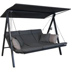 image-Sagunto Swing Seat with Stand Sol 72 Outdoor Colour (Cushion): Grey