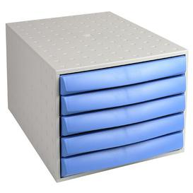 image-Mcghee Desk Organiser Symple Stuff Colour: Light Grey/Ice Blue