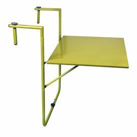 image-Asuncion Folding Steel Balcony Table Sol 72 Outdoor Colour: Green