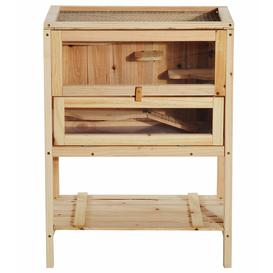 image-3 Tiers Wooden Small Animal Hamster Cage