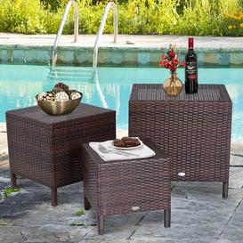 image-Midvale Rattan Coffee Table Sol 72 Outdoor