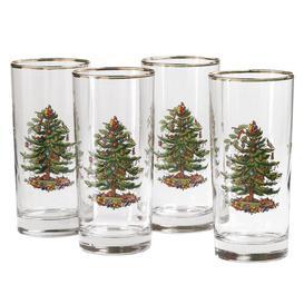 image-Christmas Tree 420ml Glass Highball Glass Spode