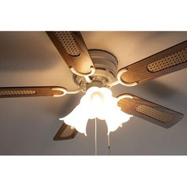 image-105cm Ebersole 5 Blade Ceiling Fan Bay Isle Home Motor Finish: White