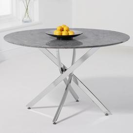 image-Mark Harris Clara Furniture Grey 120cm Marble Round Dining Table
