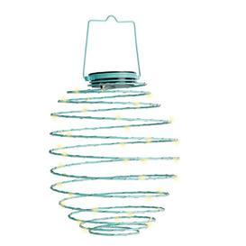image-Makbule Mini Coil Decorative Lantern Sol 72 Outdoor Size: 20cm H x 12cm W x 12cm D, Colour: Blue