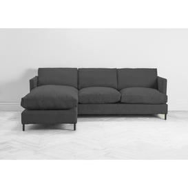 image-Justin Left Hand Chaise Sofa Bed in Dusky Grey