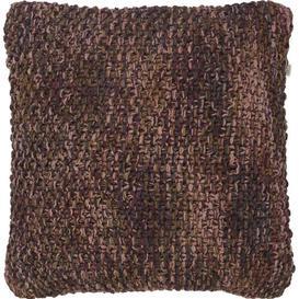 image-Kashton Cotton Cushion With Filling Brambly Cottage Colour: Burgundy