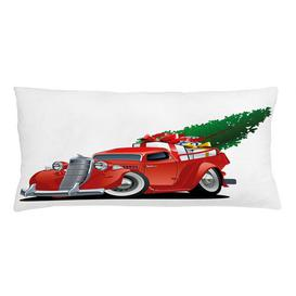 image-Kyron Christmas American Truck Outdoor Cushion Cover Ebern Designs